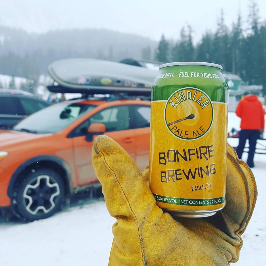 bonfire beer winter